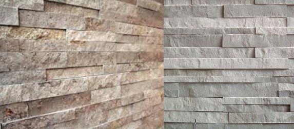 Materiaal: steenstrips, stoere uitstraling als contrast bij de felle kleuren.