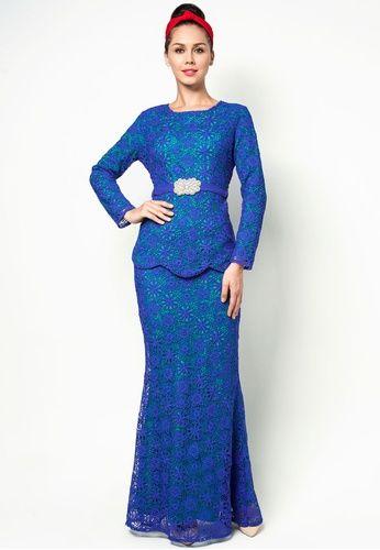 Embroidered Lace Baju Kurung #zalora