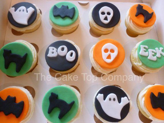 edible fondant halloween cupcake toppers by thecaketopcompany