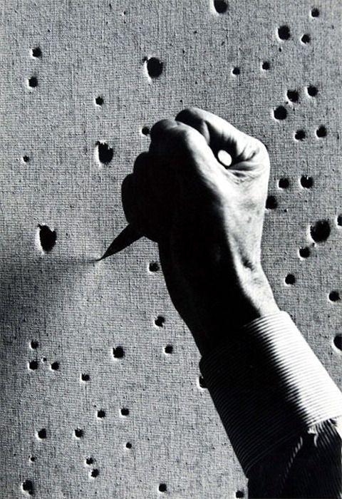 Lucio Fontana by Ugo Mulas