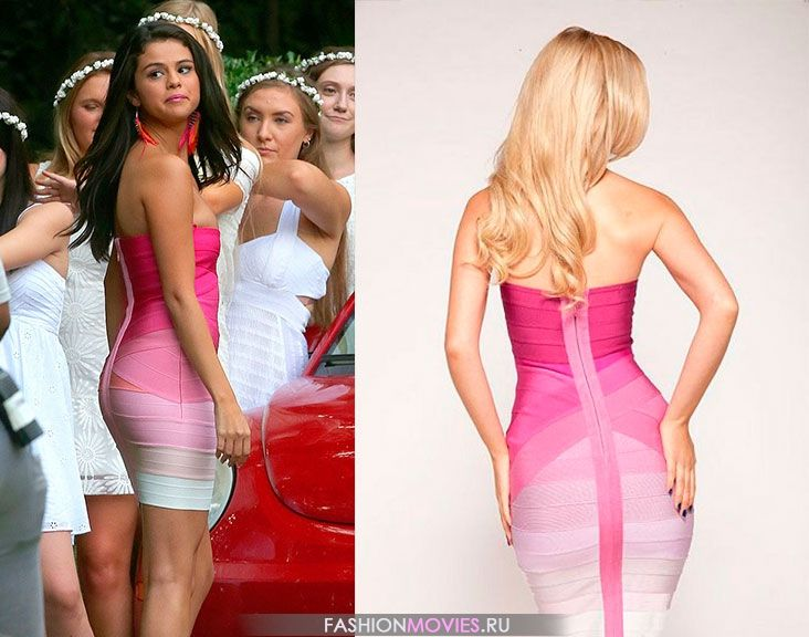 Herve Leger Stacie Strapless Gradient Bandage Dress