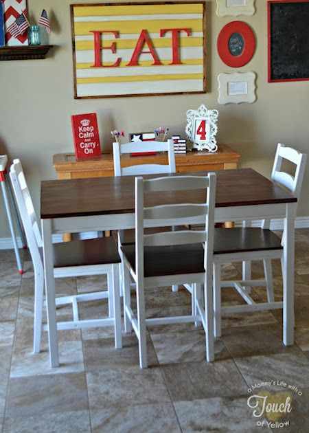 Before and After: Old IKEA Table and Chairs Get a Fresh, New Look » Curbly   DIY Design Community