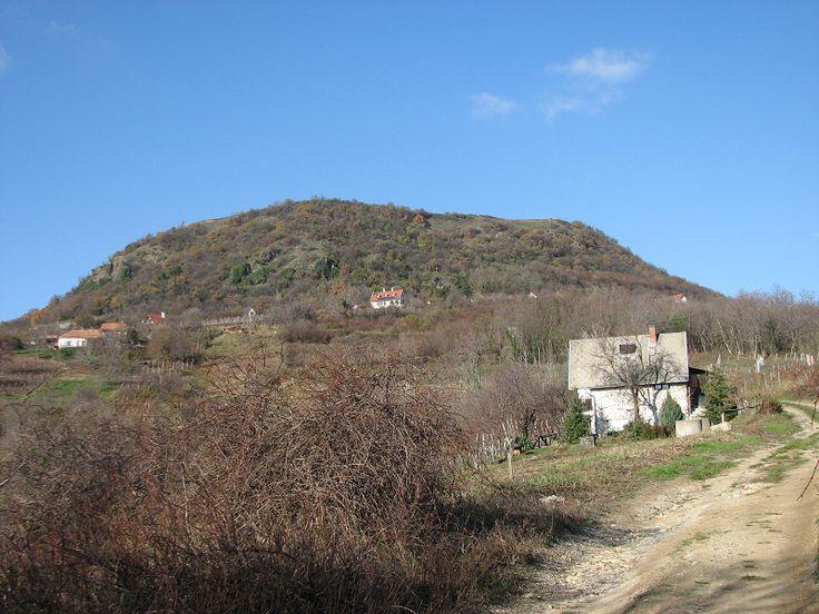 A Csobánc hegy. Tetején a vár. Ugye Te sem látod? De azért Téged is vár!