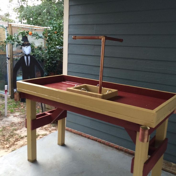 Custom Crawfish Table W Double Paper Towel Holder And