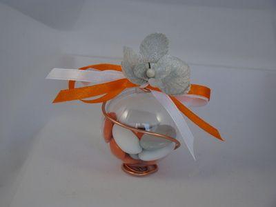 boule drages orchide argent contenant dragees pas cher mariage drage mariage - Contenant Drages Mariage Pas Cher