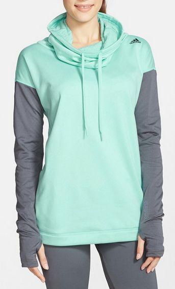Cute mint & grey adidas hoodie http://rstyle.me/n/vvh4hnyg6