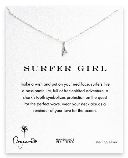 Dogeared Surfer Girl // Silver Shark Tooth Necklace