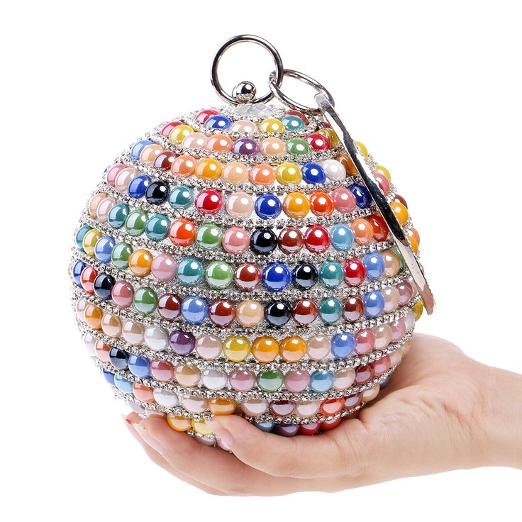 Luxury Round Ball Party/Wedding purse Woman's Fashion Evening Bags Handmade Day Clutches clutch bags small Rhinestone Purse