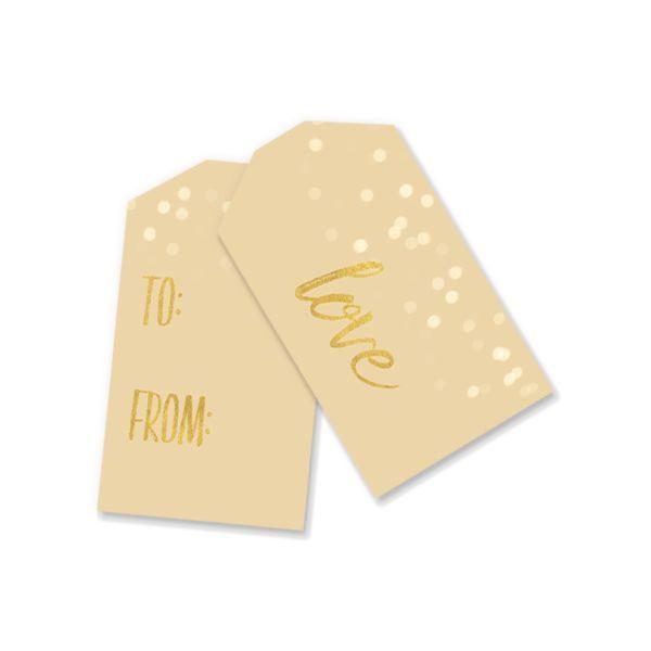 Printable Gift Tags | Cream Bokeh