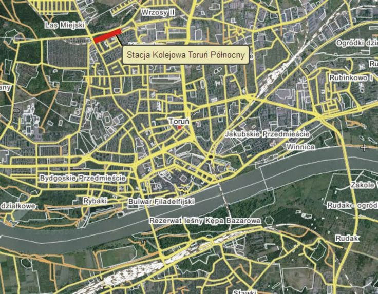 Znalezione obrazy dla zapytania mapa kolejowa torunia