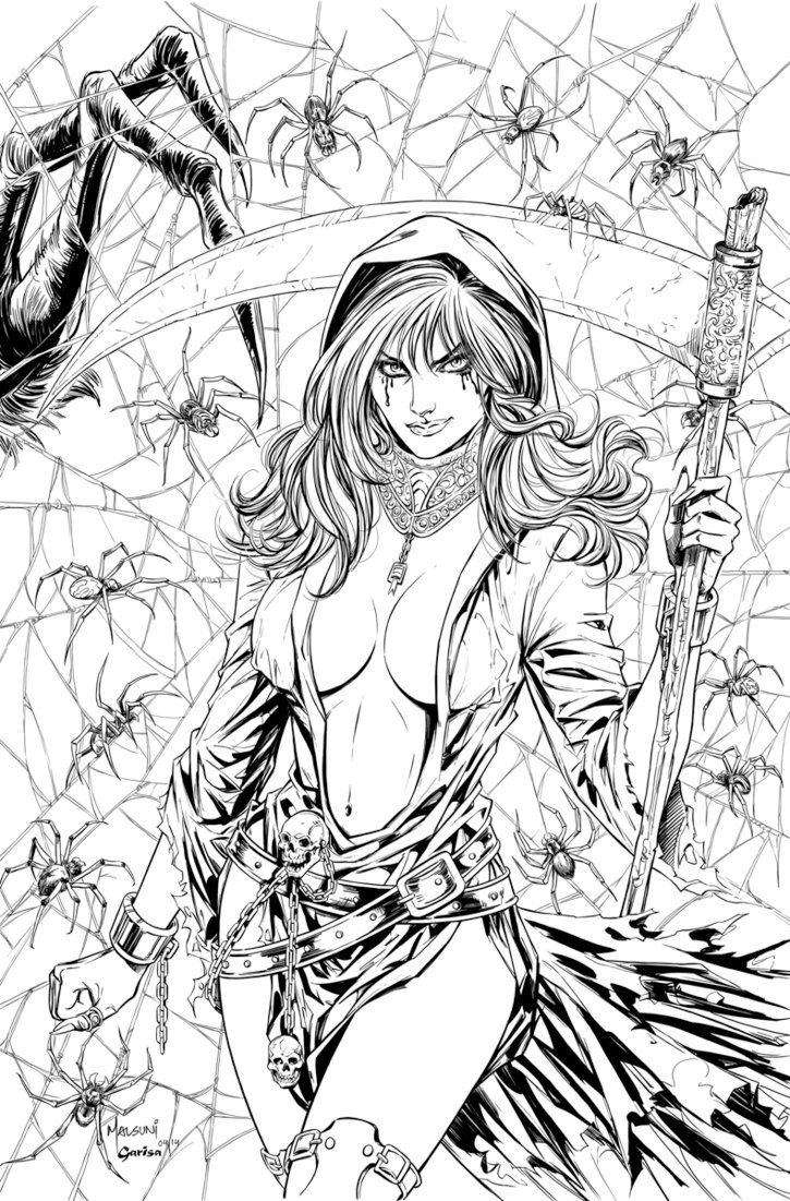 """Grimm Takes of Terror Cover A for Zenescope Entertainment. Pencils on 11"""" X 17"""" artboard Digtial Inks: Colored version here: Grimm Tales Of Terror # 2 Cover"""
