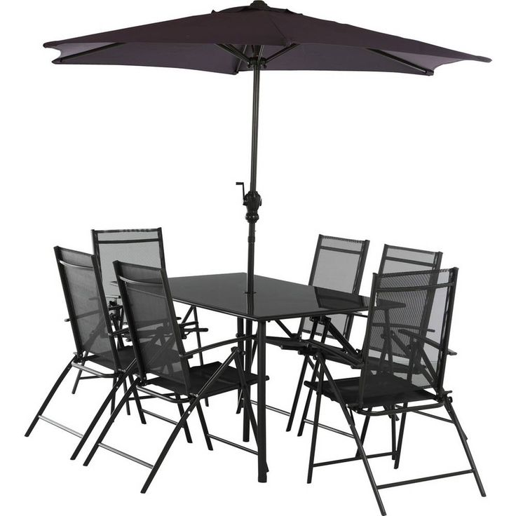 Buy Argos Home Milan 6 Seater Metal Patio Set