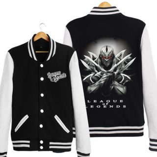 League of Legends camisola para homens Zed jaquetas de baseball xxxl