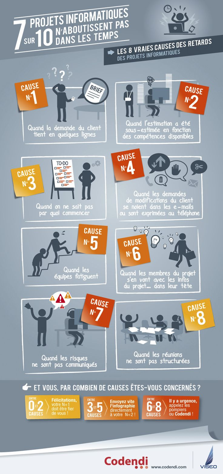 Pourquoi 7 projets informatiques sur 10 échouent #infographie