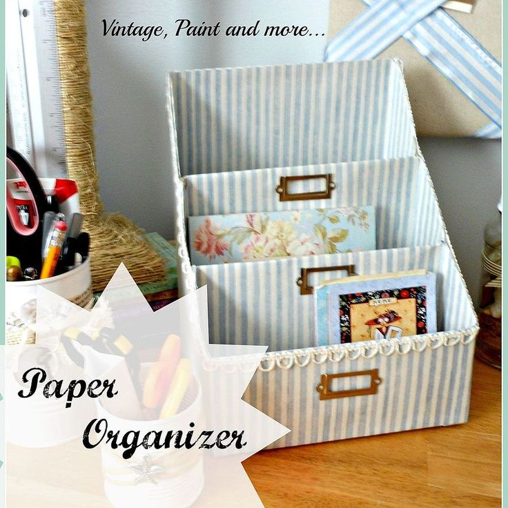 Paper Organizer made from cereal boxes!