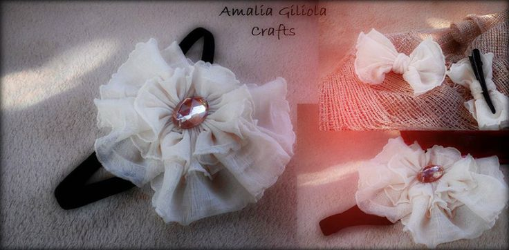 Beautiful head band made by Amalia Giliola Crafts. It is realised from fine material accesorized with a stylish jem, it is applied on a delicate elastic.