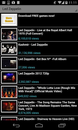 Led Zeppelin <br>You will find all Led Zeppelin and songs, with or without lyrics. This app is free, please share it with your friends! <br>Led Zeppelin, lyrics, songs, even ringtones! <br>Disclaimer: All the videos are taken from YouTube and belong to its own publishers. We do not edit nor add any video or other content. We also recommend you to use YouTube to visit Led Zeppelin channels and playlists and look for more related videos. All This app is NOT officially authorized by any…