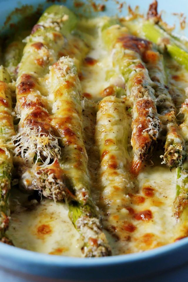 Cheesy Baked Asparagus  - Delish.com