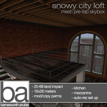 [ba] snowy city loft with extras