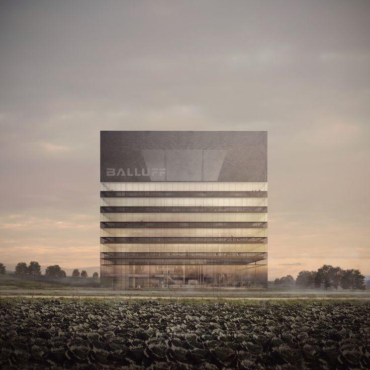 Allmann Sattler Wappner Architekten, Balluff Campus Competition, Visualisierung: Forbes Massie