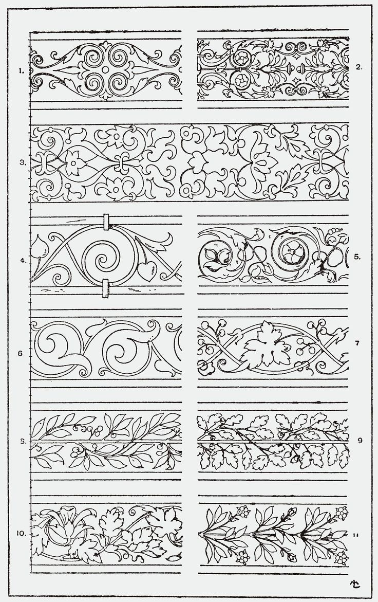 """From, """"A Handbook of Ornament"""". 1898 by Franz Sales Meyer.                                                                                                                                                                                 Mehr"""