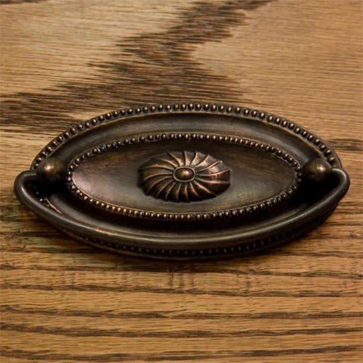 Hepplewhite Oval Brass Drawer Pull - Drawer Pulls - Cabinet and Drawer Hardware - Hardware
