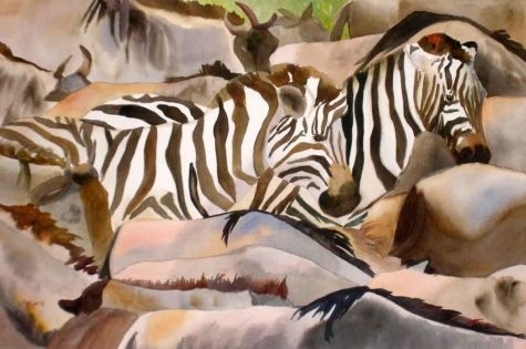 Zebras and Gnus, painting by artist Kay SmithKay Smith, Gallery Artists, Artists Kay, Daily Painters, Originals Art, Dailypainters Com, Painters Gallery, Originals Painting, Art Painting
