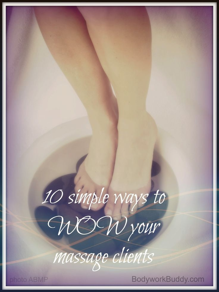 10 simple ways to WOW your massage clients