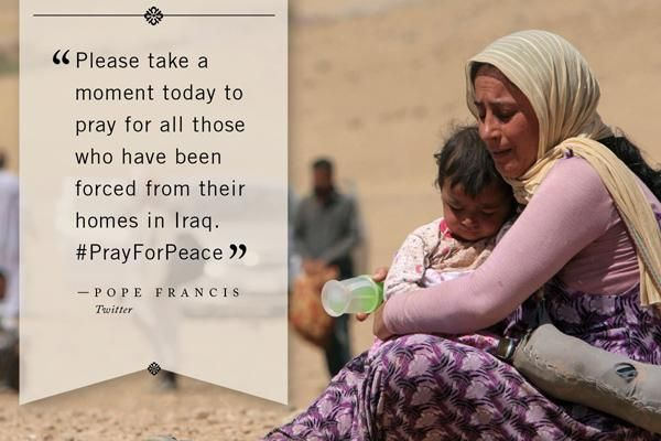 #Iraq Solidarity #News (Al-Thawra) fully supports the call from the #Pope, to show support to the #Christians of #Iraq, who are under attack from #ISIS. You can keep up to date with news from Iraq by on our website http://iraq-solidarity.blogspot.co.uk/