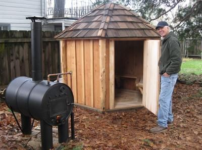 My friends have been using their homemade outdoor wood fired steam saunas for decades. I finally decided to build my own sauna based on their design. Of