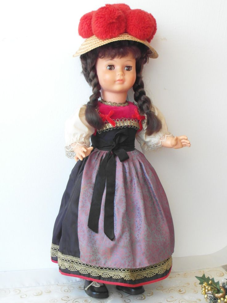 Large Costumes Doll 1960s German Black Forest Doll Long