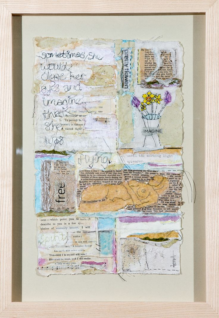 Sometimes She Would Close Her Eyes Mixed Media on Paper Tess Ainley