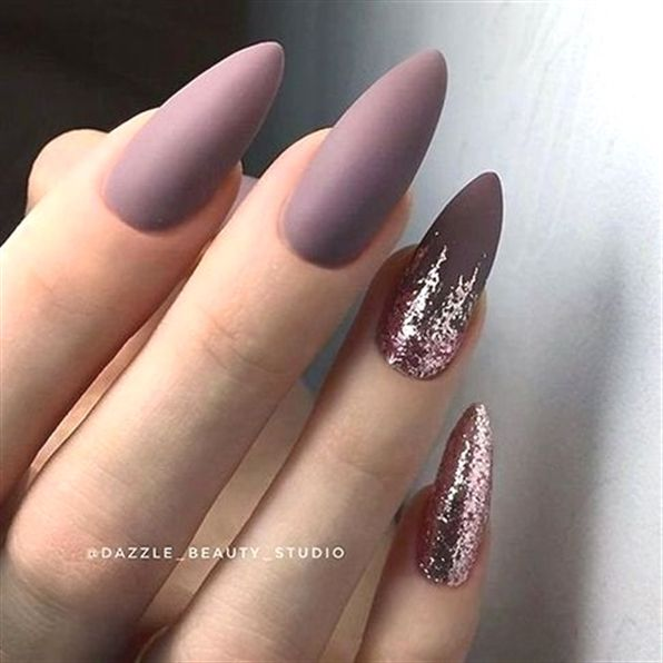 28 Gorgeous Almond Acrylic Nails You Wont Resistalmond Nails Long Or Short Almond Nails Designs Almond Mauve Nails Almond Acrylic Nails Almond Nails Designs