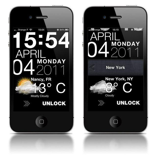 Typophone Weather app for jailbroken iPhones