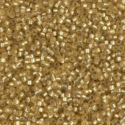 Miyuki Delica Bead 11/0 – DB0687 – Dyed Semi-Frosted Silver Lined Yellow Green   – miyuki delica seed beads