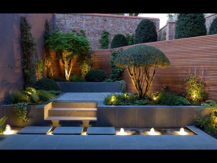 Estanque fuente lighting for garden in 2019 pinterest - Estanque terraza piso ...