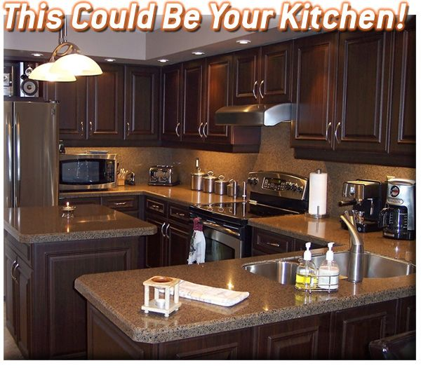 114 best kitchens i like images on pinterest for Remodel kitchen without replacing cabinets