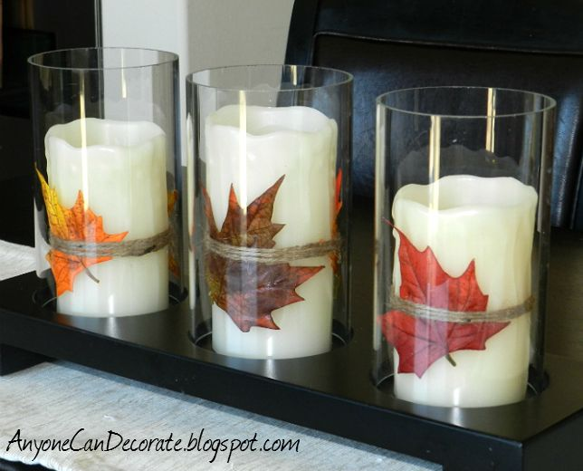Rustic Candles -- Perfect for Thanksgiving