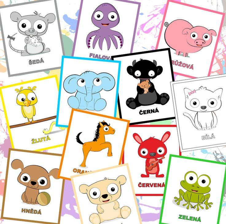 Učíme+se+barvičky+-+kartičky+♥+Další+zřad+vzdělávacích+kartiček+pro+nejmenší+:o)+Sada+dvanácti+kartiček+je+kvalitně+vytištěna+na+formát+A4+-+silnější+gramáže.+Jedná+se+o+originální,+autorský,+grafický+design+:o)+(C)+Dythree
