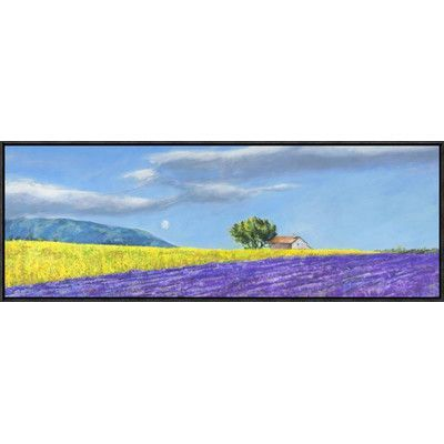 Global Gallery 'Campi di Lavanda' by Massimo Germani Framed Painting Print on Canvas
