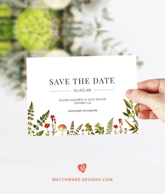 Make Your Own Rustic Save The Date Invitations With This Easy To Use Online Template Perfect For Budget Friendly Weddings Editable Woodland