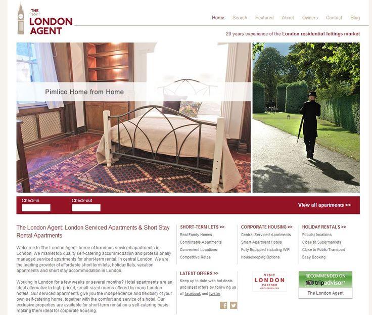 Vacation Rental Website Design   Http://www.thelondonagent.com/