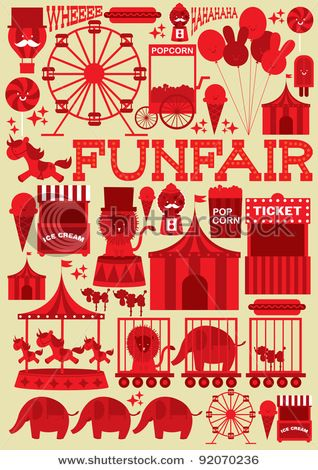 funfair    As far as supergraphics to link into Candy Queens, makle this pink and white with dashes of yellow and a black outline. Hmmm.