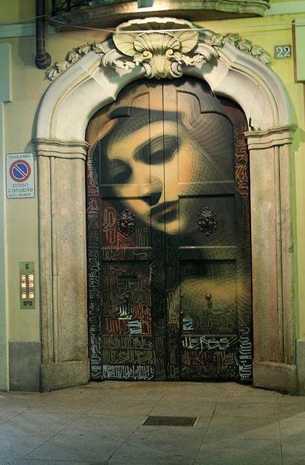 Best Graffiti & Amazing Street Art - Doorway in Italy by ...