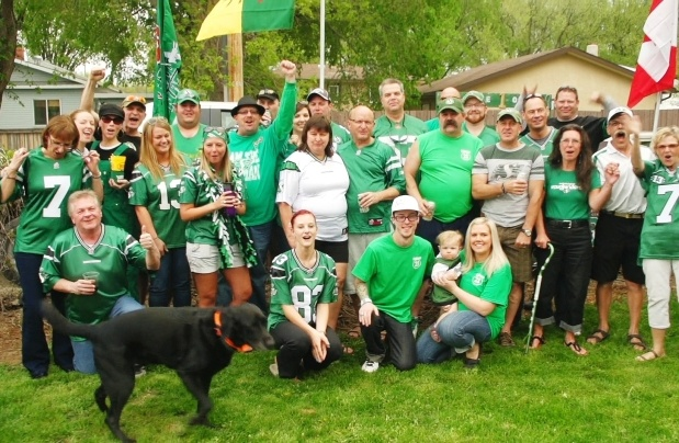 Saskatchewan Roughriders fans from Clubhouse 23 show their Rider Pride in the documentary The 13th Man.