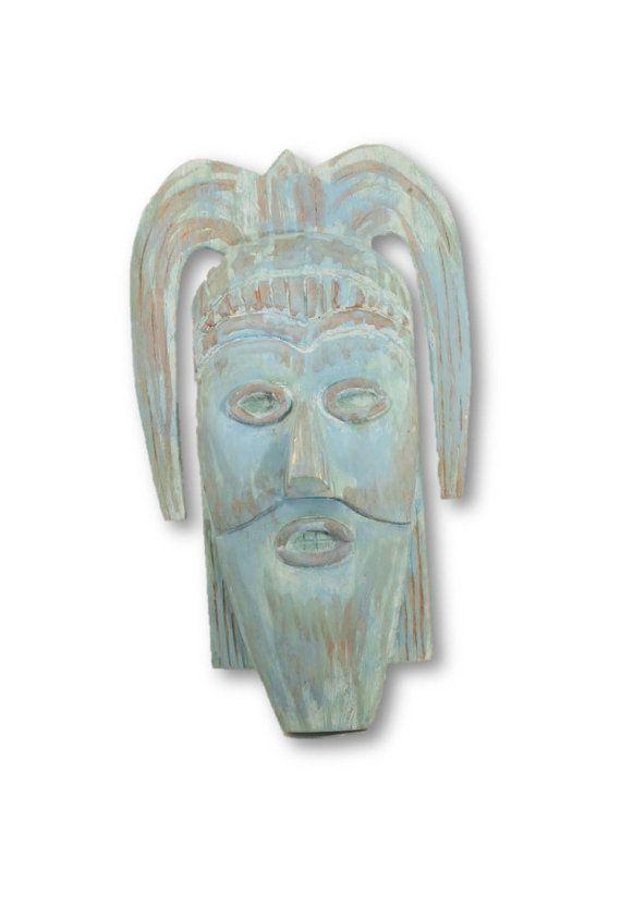 SALE:  75% OFF  Wood Mask Primitive Mask by ClockworkRummage