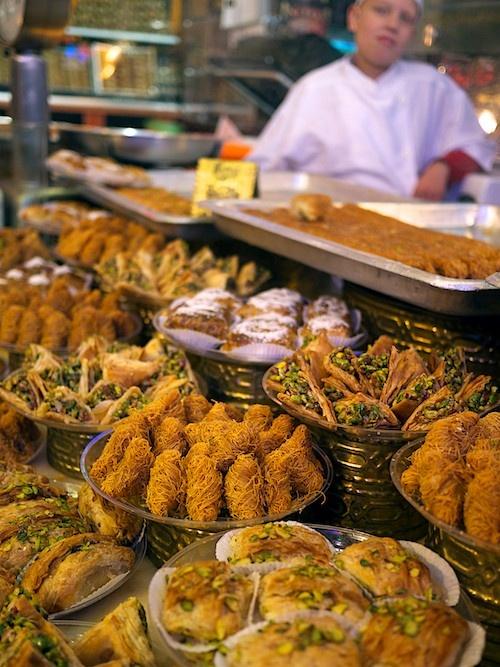 Baklava vendor daoud brothers sweet shop on jasmatiyah for Milan food market