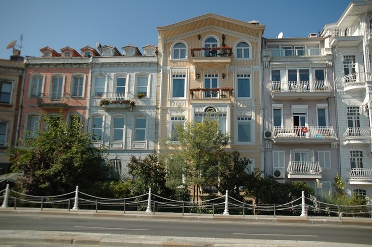 Homes in the Arnavutkoy district in Istanbul
