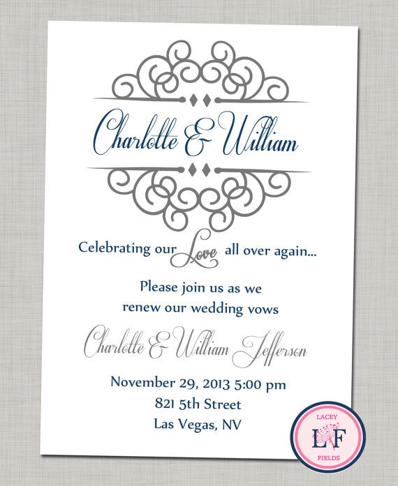 Celebrating Our Love Printable Invite Anniversary By Laceyfields 1000