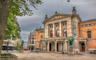Scarica sfondi teatro nazionale, oslo, norvegia